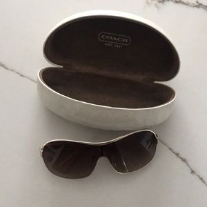 Wormens coach sunglasses with case
